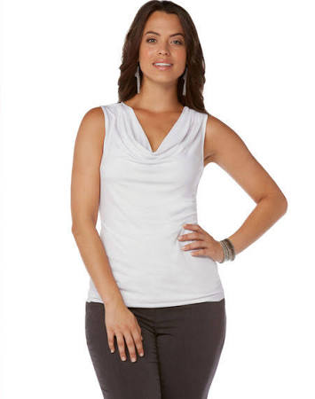 Rafaella Cowl Neck Sleeveless Top