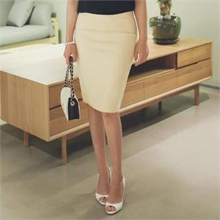 Ode Zip-Back Pencil Skirt